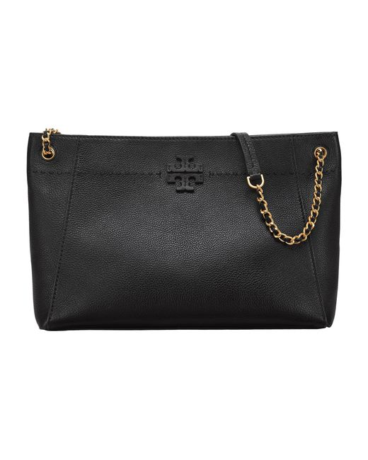 Tory Burch - Mcgraw Chain-shoulder Slouchy Tote (black) Tote Handbags - Lyst