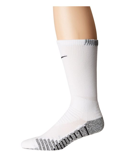 Nike - Grip Vapor Crew Football Socks (white/black/black 1) Men's Crew Cut Socks Shoes for Men - Lyst
