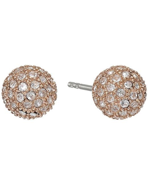 Fossil - Pink Jf00135791 Ladies Rose Iconic Glitz Earrings - Lyst
