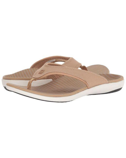 Spenco - Multicolor Yumi Canvas Stripe Sandal (black) Women's Shoes - Lyst