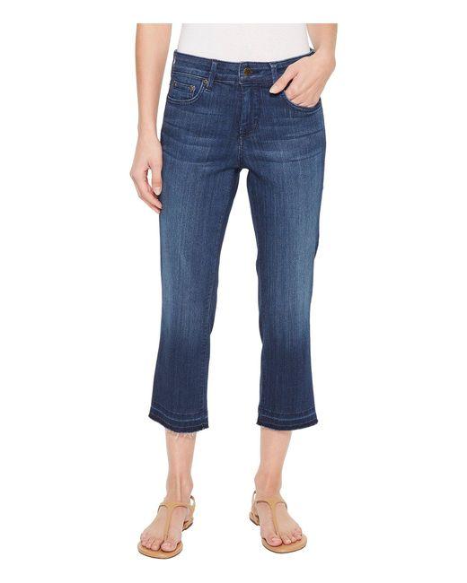 NYDJ - Blue Capris W/ Released Hem In Lark (lark) Women's Jeans - Lyst