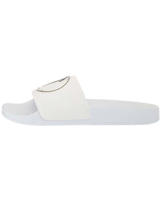 84fb604a2 ... Versace - Medusa Pool Slide (white light Gold white) Men s Sandals for  ...