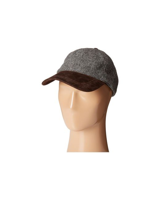 Stetson - Gray Wool Blend Cap With Suede Peak for Men - Lyst