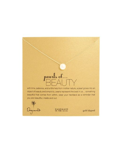 Dogeared - Metallic Pearls Of Beauty Necklace (gold Dipped) Necklace - Lyst