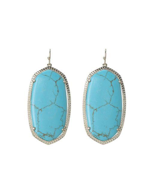 Kendra Scott - Blue Danielle Earrings (rhodium/abalone Shell) Earring - Lyst