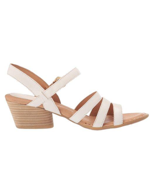 2bcbd3180f75 ... Lyst Born - White Lasal (black Full Grain Leather) Women s Sandals ...
