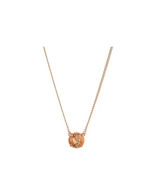 Vince Camuto - Metallic 18 Cubic Zirconia Rivoli Solitaire Pendant Necklace (gold) Necklace - Lyst