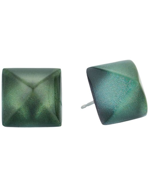 Alexis Bittar - Multicolor Pyramid Post Earrings (deep Jade) Earring - Lyst