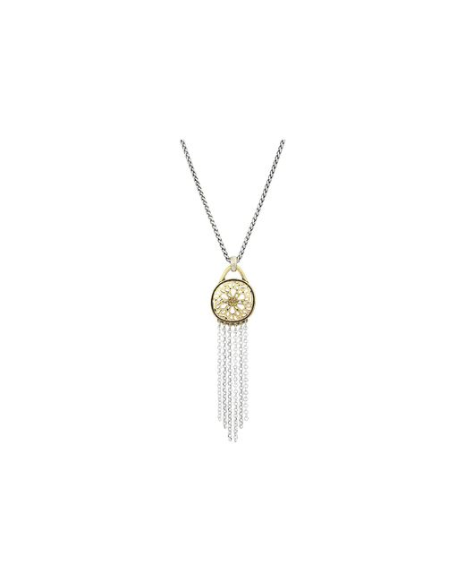 Lucky Brand - Metallic Sugarplum Fringe Pendant Necklace (two-tone) Necklace - Lyst