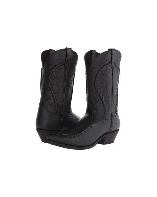 Laredo - Laramie (black Goat) Cowboy Boots - Lyst