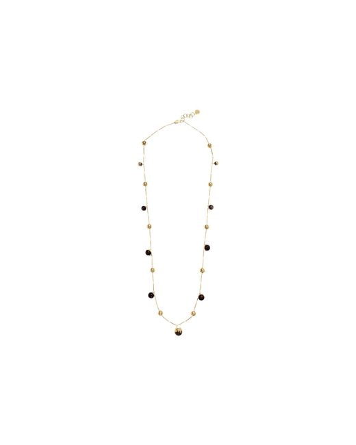 Tory Burch - Multicolor Logo Bead Rosary Necklace (agate/tory Gold) Necklace - Lyst