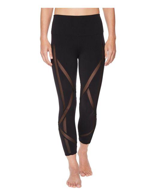 Alo Yoga - High-waist Laced Capris (black) Women's Casual Pants - Lyst