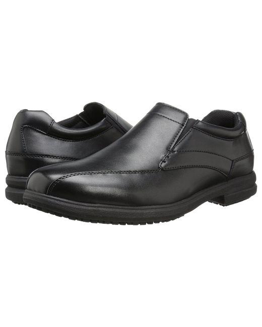 Nunn Bush - Sanford Slip Resistant Bicycle Toe Work Slip-on (black) Men's Slip On Shoes for Men - Lyst