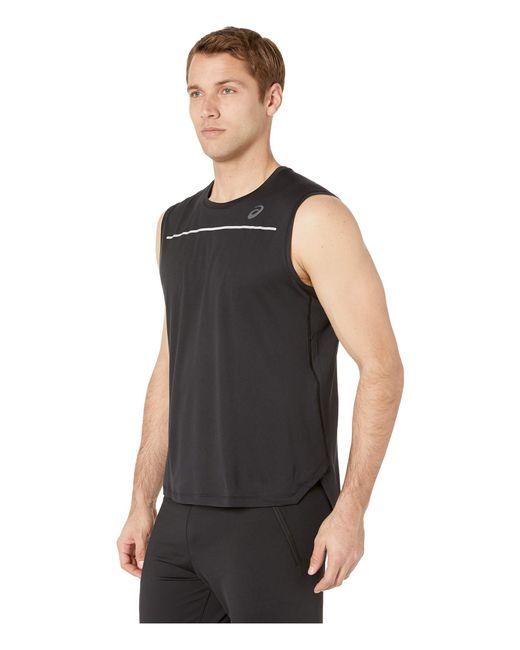 21157aab1463f ... Asics - Black Lite-show Sleeveless Top (dark Grey) Men s Sleeveless for  Men ...