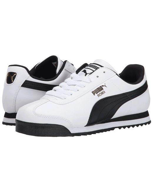 PUMA - White Roma Basic (black/black) Men's Shoes for Men - Lyst