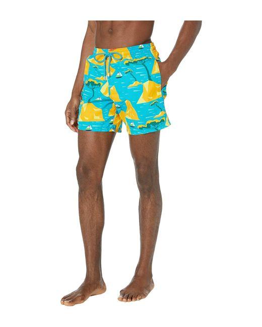 bb0ad98b8e ... Vilebrequin - Capri Moorea Swim Trunks (bahama Blue) Men's Swimwear for  Men ...