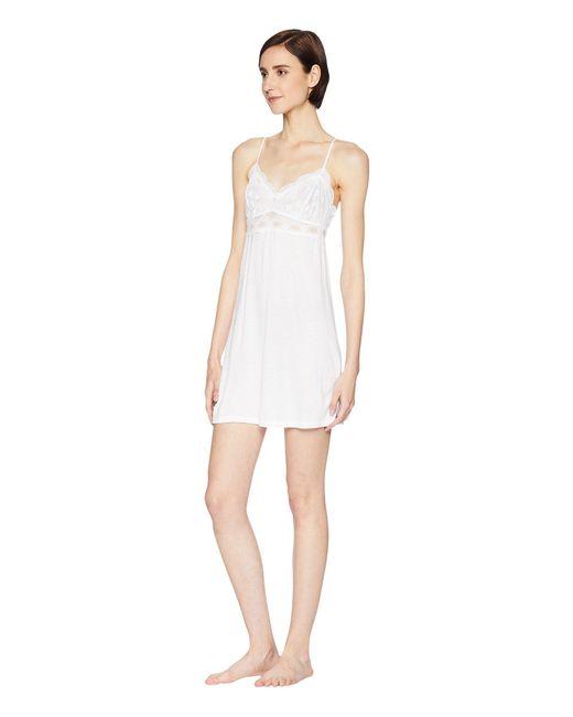 07aa77131dd Lyst - Eberjey India - Chemise (black) Women s Pajama in White