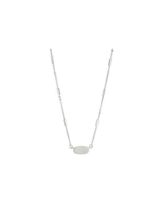 Kendra Scott - Metallic Fern Necklace - Lyst