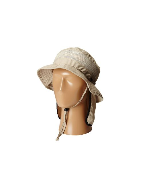 4c1191cae6e ... Stetson - Natural Boonie With Insect Shield Flap (khaki) Caps for Men -  Lyst