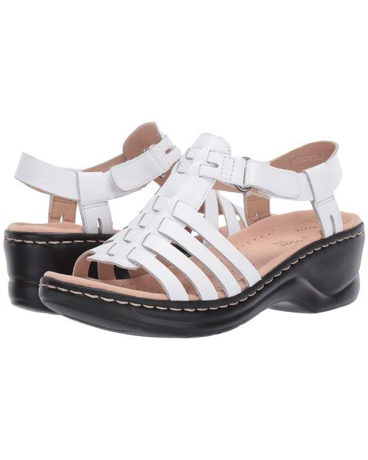 4044b99206e Clarks - Multicolor Lexi Bridge (white Leather) Women s Dress Sandals - Lyst  ...