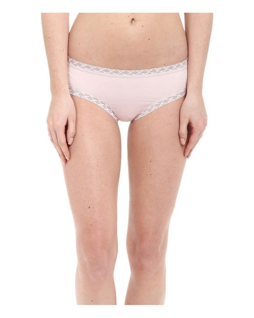 Natori | Pink Bliss Cotton Girl Brief | Lyst