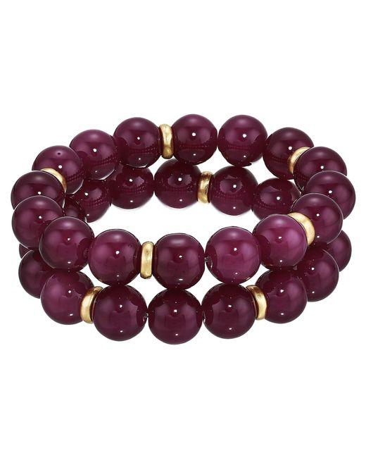The Sak - Beaded Stretch Bracelet Set (purple) Bracelet - Lyst