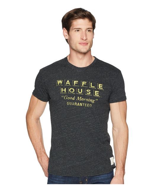 The Original Retro Brand - Short Sleeve Vintage Tri-blend Waffle House Tee (streaky Black) Men's T Shirt for Men - Lyst