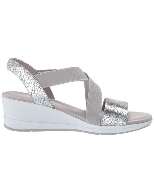 bf459ec7329 ... Lyst Anne Klein - Metallic Sport Nessy Wedge Sandal (silver) Women s  Shoes ...