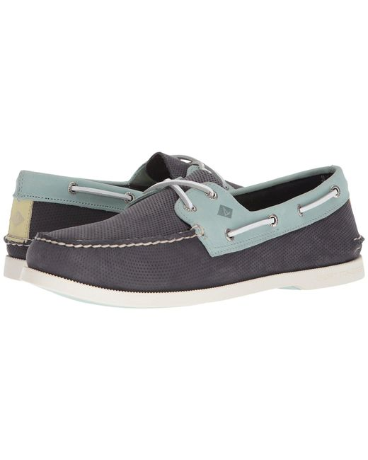 Sperry Top-Sider - Blue A/o 2-eye Perforated for Men - Lyst