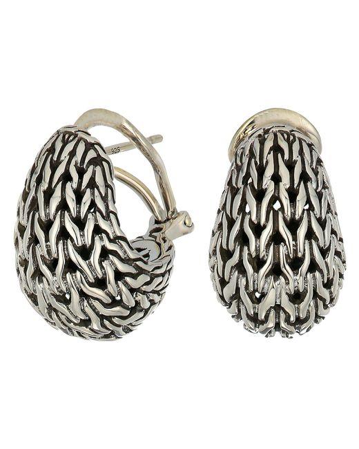 John Hardy - Metallic Classic Chain Graduated Buddha Belly Earrings (silver) Earring - Lyst