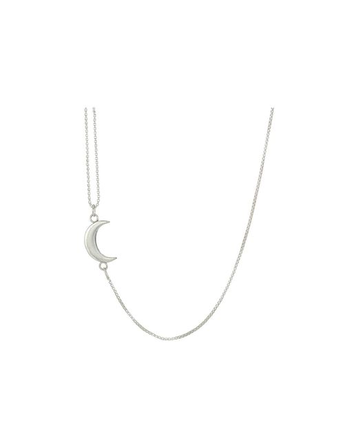 ALEX AND ANI - Metallic Pull Chain Moon Necklace - Lyst