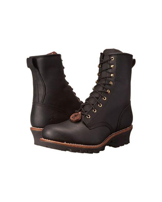 Chippewa - 8 Steel Toe Logger (black) Men's Work Boots for Men - Lyst