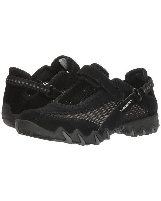 Allrounder By Mephisto - Black Niro (dark Blue Suede/mesh) Women's Maryjane Shoes - Lyst