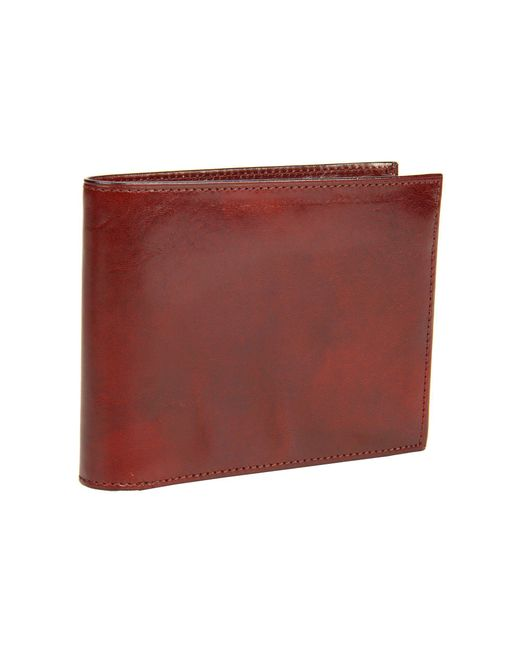 Bosca - Old Leather Collection - Continental Id Wallet (dark Brown Leather) Bi-fold Wallet for Men - Lyst