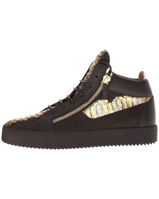 Giuseppe ZanottiMay London Metallic Croc Print Mid Top Sneaker 0nwyurd