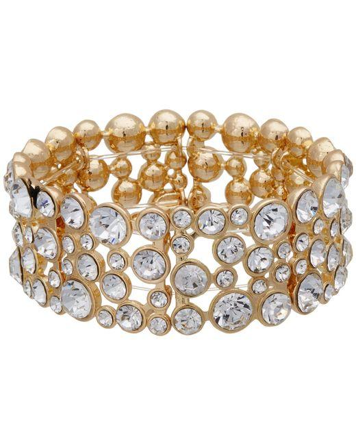 Guess - Metallic Stone Stretch Bracelet - Lyst