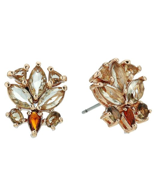 Vince Camuto - Metallic Stone Cluster Stud Earrings - Lyst