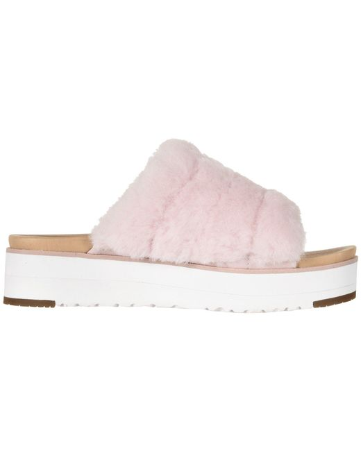 a3c74389c82 Lyst - UGG Fluff Yeah Sandal (seashell Pink) Women s Slide Shoes in Pink