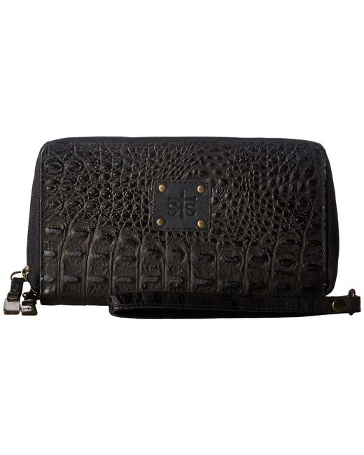 STS Ranchwear - Multicolor The Kacy Croc Organizer (black Croc) Handbags - Lyst
