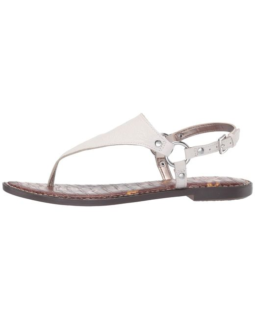 fe19c47e9bd2 ... Sam Edelman - White Greta (golden Caramel Goat Cocktail Nubuck) Women s  Sandals ...