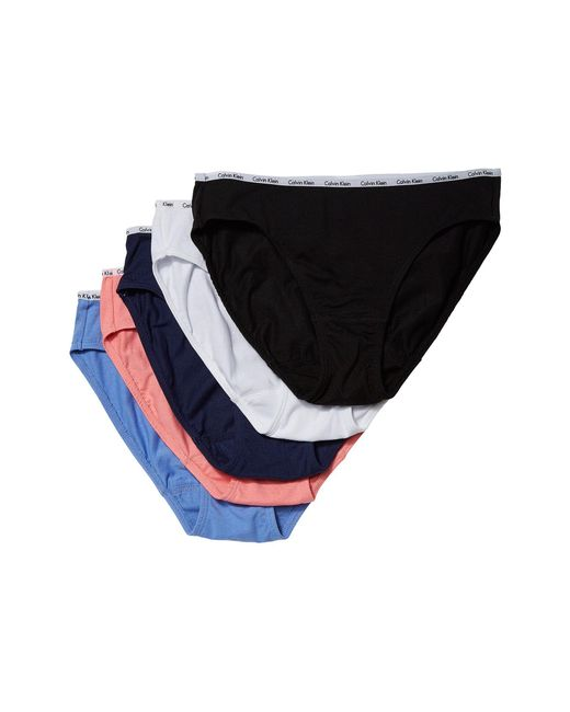 3fc23e841fd7e Calvin Klein - 5-pack Signature Cotton Bikini Bottoms (black white grey ...