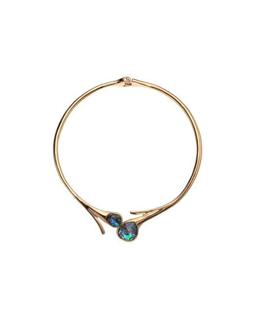 Robert Lee Morris - Metallic Abalone Stone Sculptural Hinged Collar Necklace (abalone) Necklace - Lyst