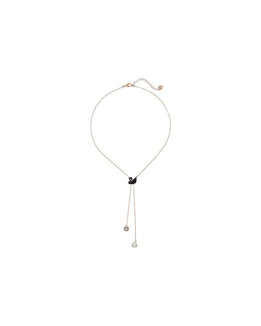 Swarovski - Multicolor Double Y Iconic Swan Necklace (multi) Necklace - Lyst