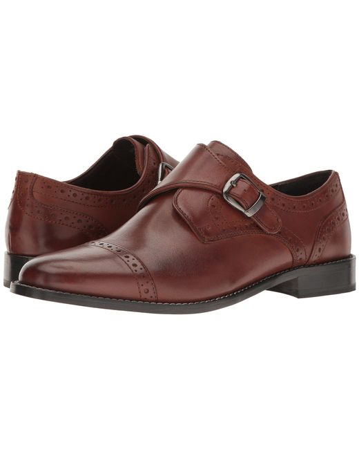 Nunn Bush - Brown Newton Cap Toe Dress Casual Monk Strap (cognac) Men's Monkstrap Shoes for Men - Lyst