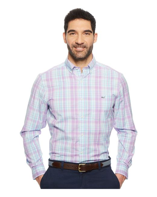 Vineyard Vines - Blue New Providence Plaid Classic Tucker Shirt for Men - Lyst