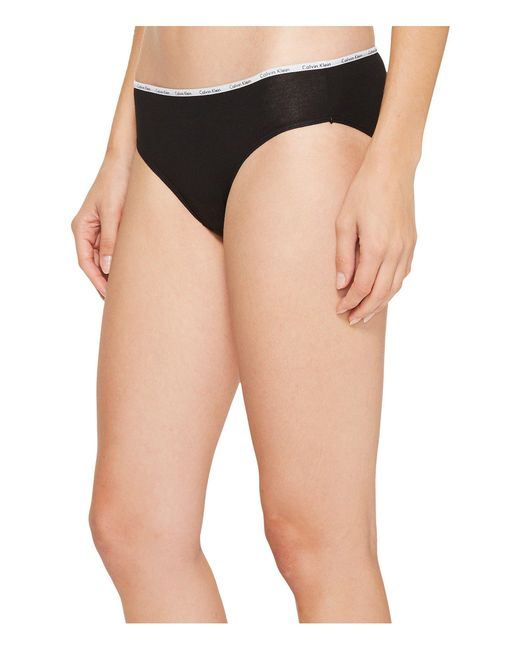 25330784ab5f4 ... Calvin Klein - 5-pack Signature Cotton Bikini Bottoms (black white peony  ...