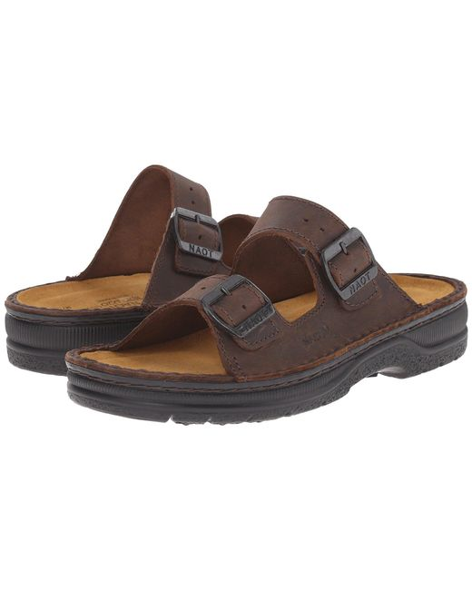 Naot - Brown Mikaela (crazy Horse Leather) Women's Sandals - Lyst