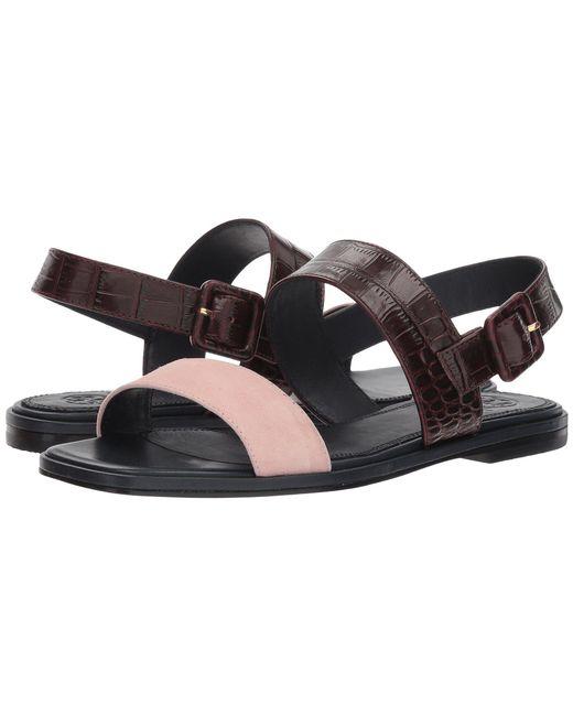 Tory Burch - Multicolor Delaney Flat Sandal (perfect Black/gold) Women's Shoes - Lyst