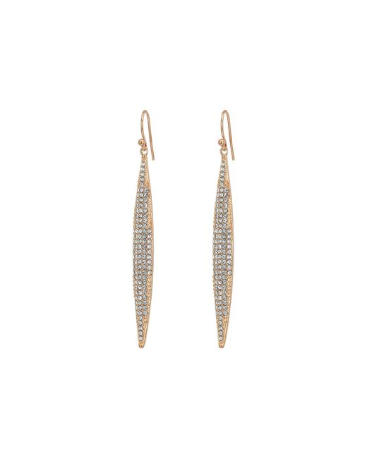 Vince Camuto - Metallic Rose Gold Pave Linear Spear Drop Earrings - Lyst