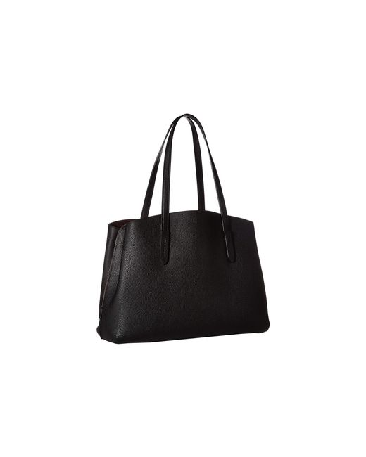 a9260ad29427 ... COACH - Polished Pebble Leather Charlie 40 (black gold) Handbags - Lyst  ...